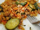 Courgette with Peppers and Rice